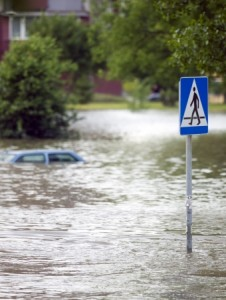 7081122 - flooded street in the city